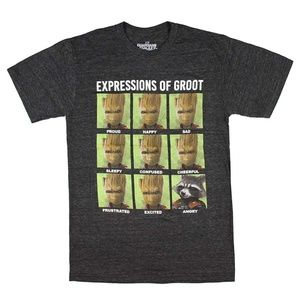 Expressions Of Groot Guardians of the Galaxy Tee